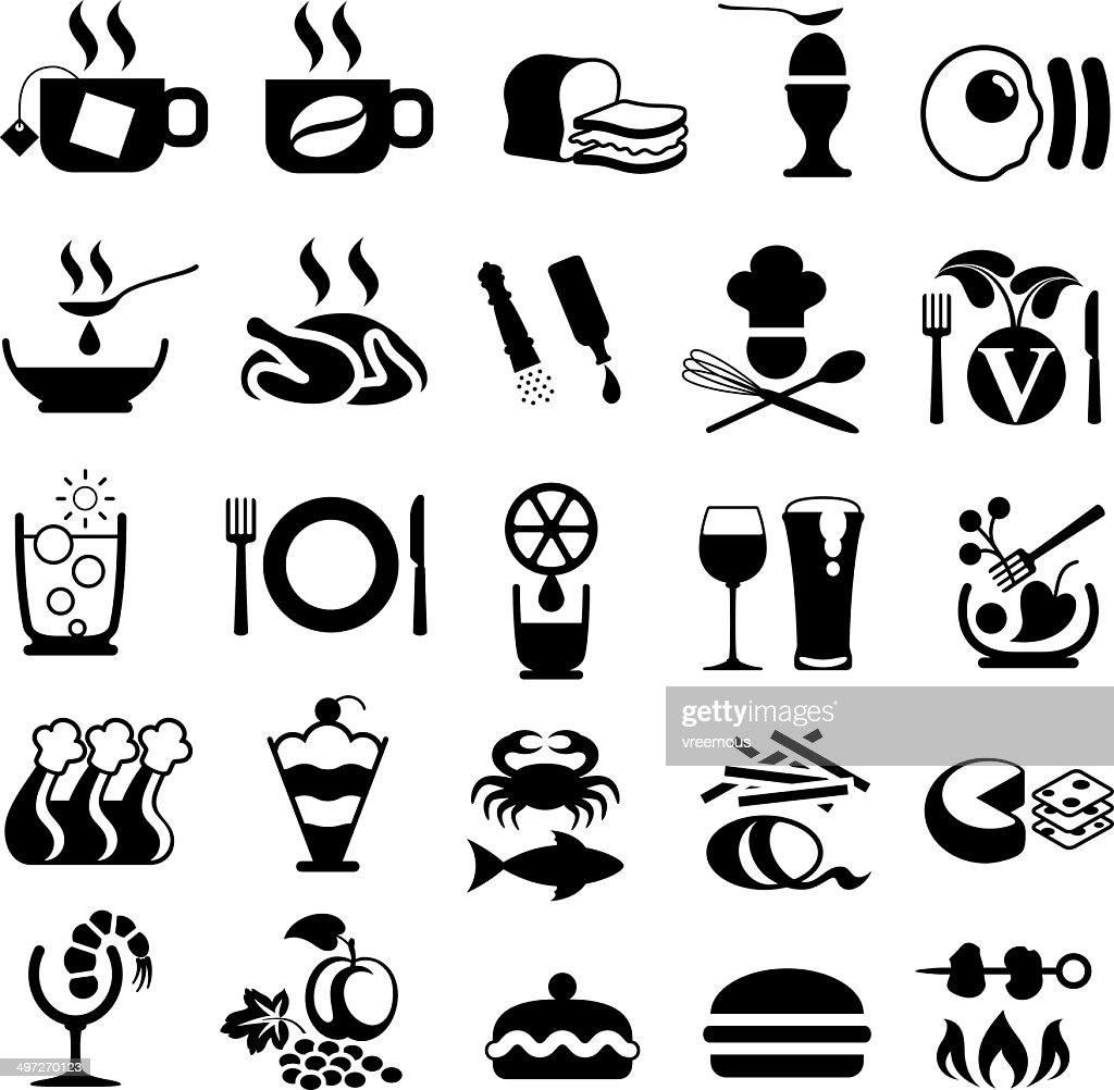food symbols drink chicken vector roast illustrations related gettyimages icons illustration