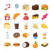 Food and Drinks Flat Icons