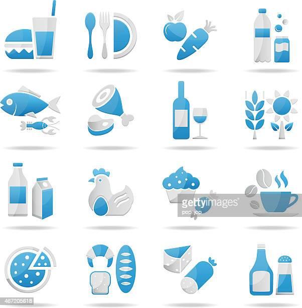Nourriture et boisson, Ensemble d'icônes