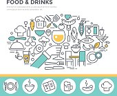 Food and drinks illustration.