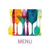 Food and drinks. Menu. Vector illustration