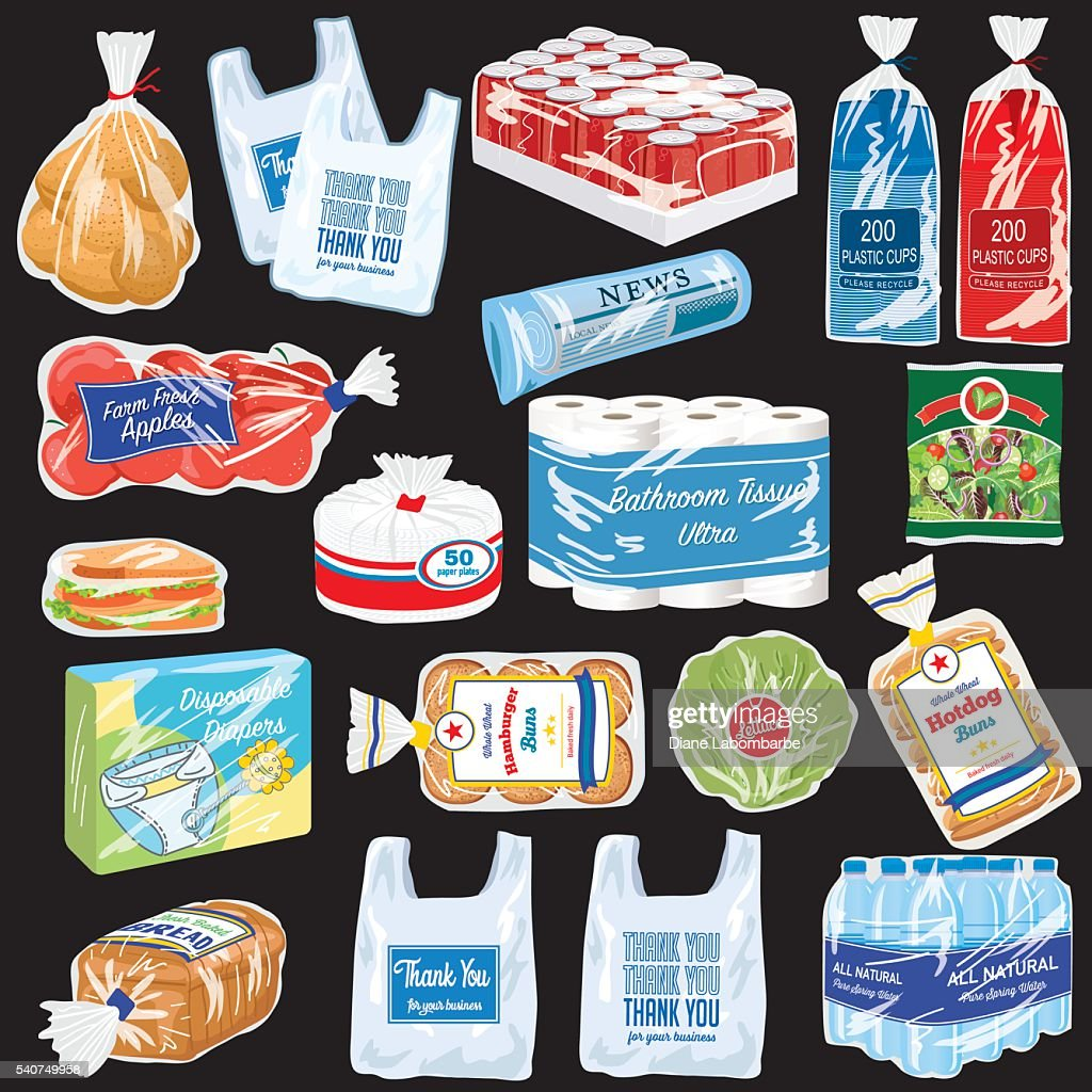 Food and Products That Are Wrapped In Plastic