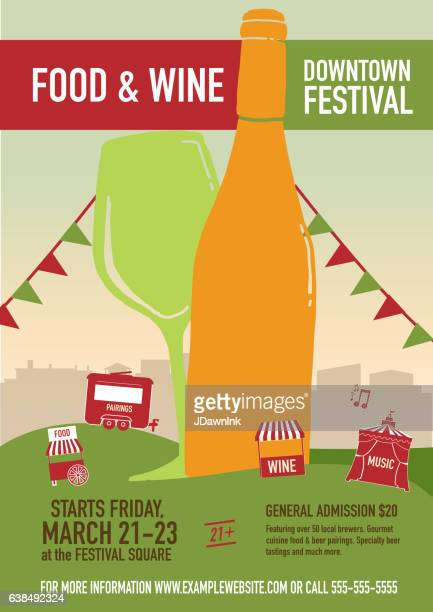 Food and Wine Festival Poster design template