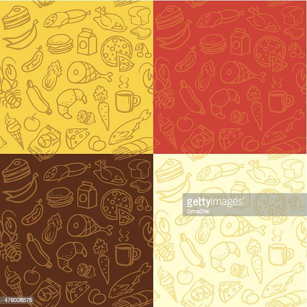 food background - chicken pie stock illustrations, clip art, cartoons, & icons