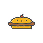 Food Bakery Colored Icon Pie