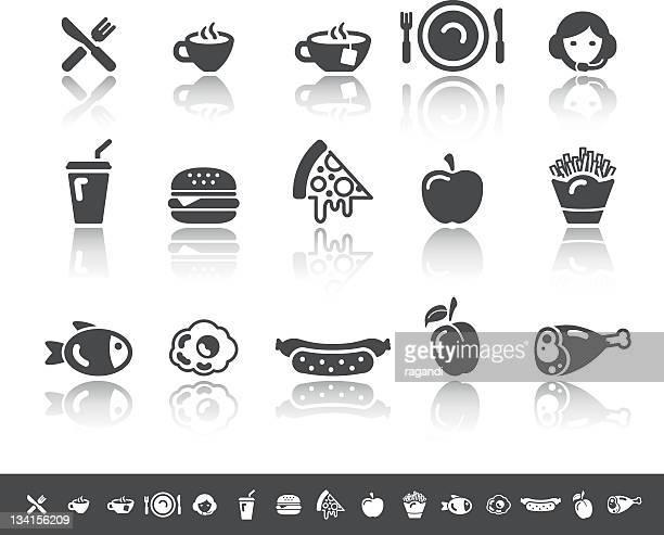 Food & Beverage Icons | Simple Grey