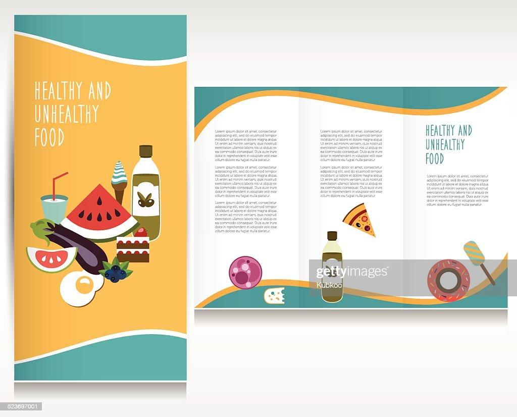 Food brochure design.