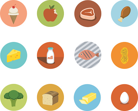 Food Circle Icons - gettyimageskorea