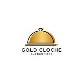 Food cloche logo design template