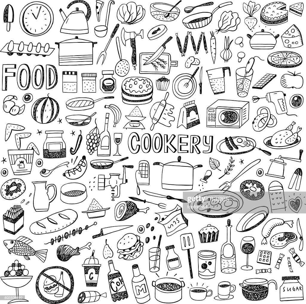 food cookery doodles