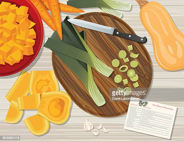 Food Cooking Flat Lay On A Wood Background