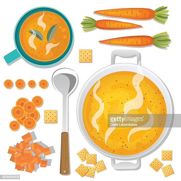 Food Cooking Flat Lay - Soup