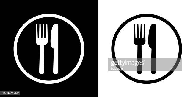 stockillustraties, clipart, cartoons en iconen met voedsel hof teken. - food
