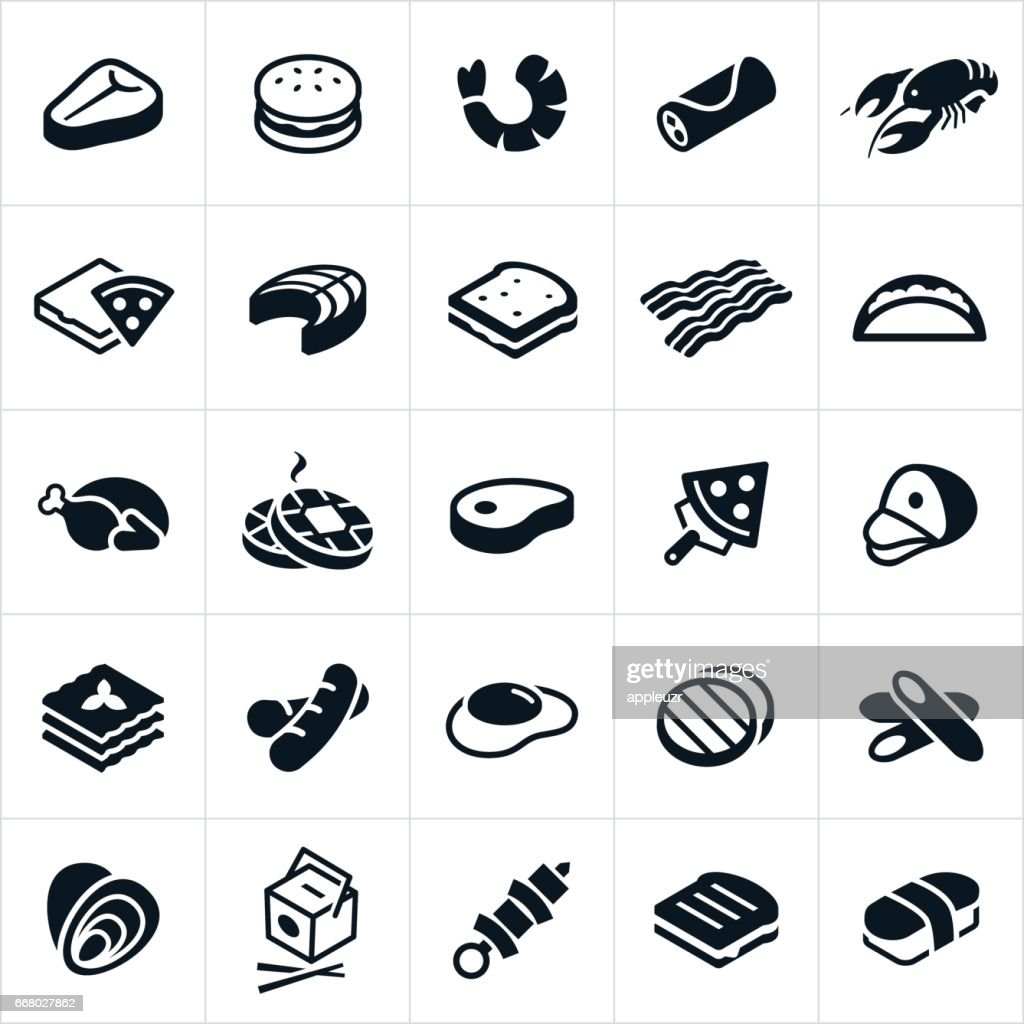 Food Cuisines Icons : stock illustration