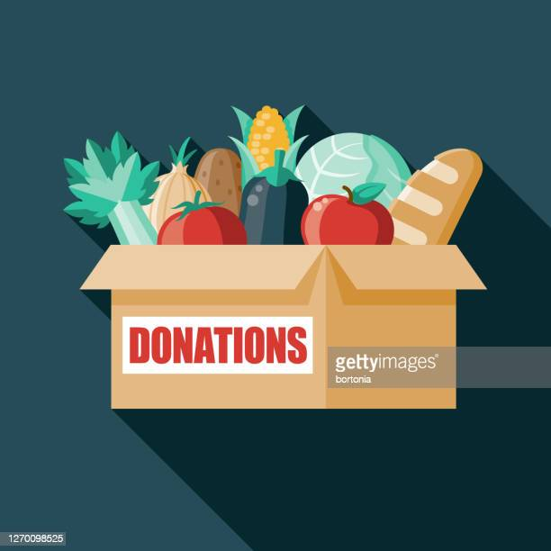 food donation box - giving tuesday stock illustrations