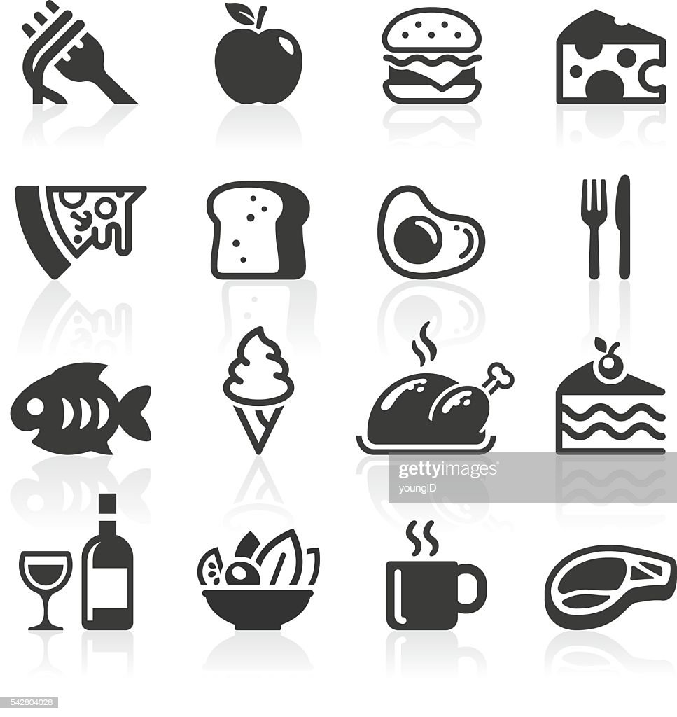 Food & Drink Icons : stock illustration