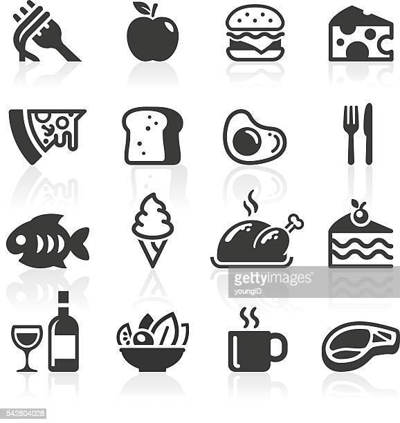 food & drink icons - apple fruit stock illustrations