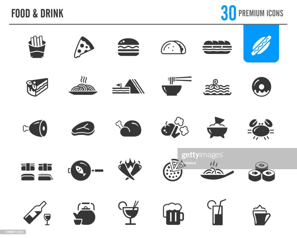 Food & Drinks Icons // Premium Series : stock illustration