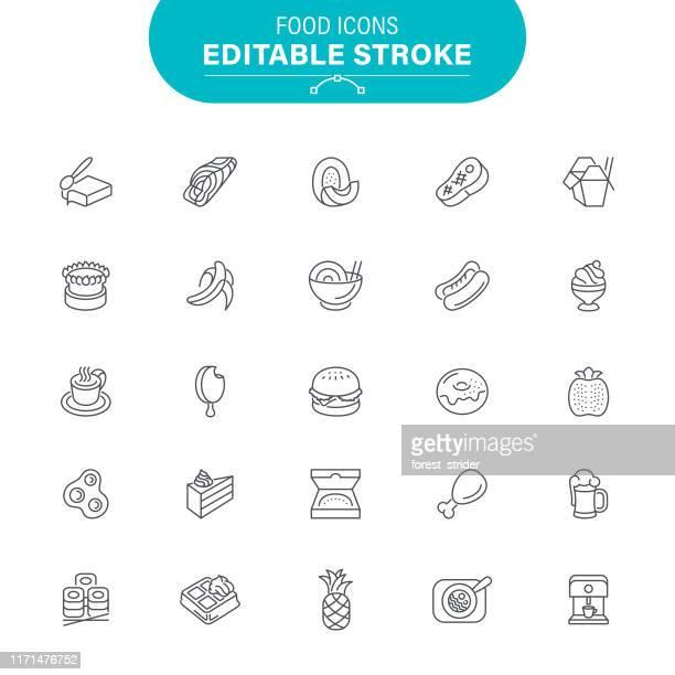 食品編集可能アイコン - 高級グルメ点のイラスト素材/クリップアート素材/マンガ素材/アイコン素材