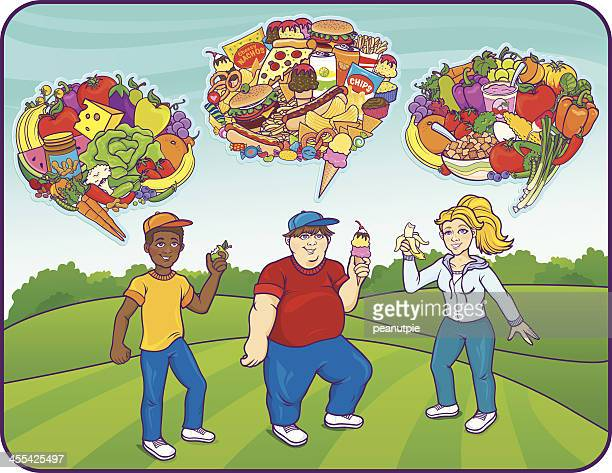 food for thought children - eating ice cream stock illustrations, clip art, cartoons, & icons