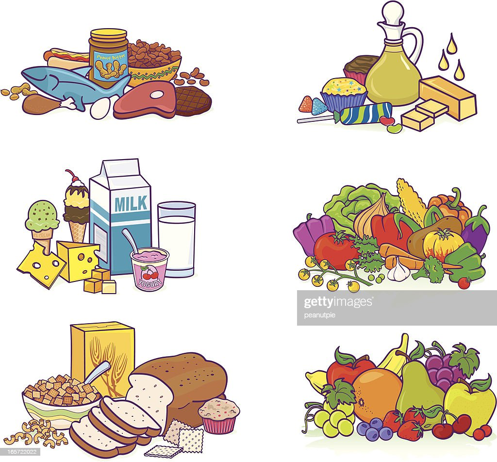 Food Groups Vector Art | Getty Images