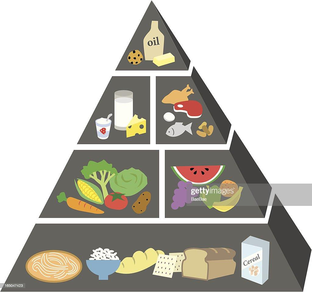 Keto Food Pyramid Stock Vector Manual Guide
