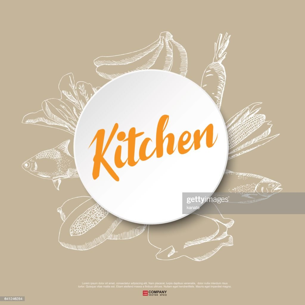 Food hand draw poster