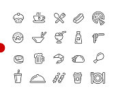 Food Icon Set 2 of 2 // Red Point Series