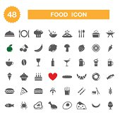 Food icon - set