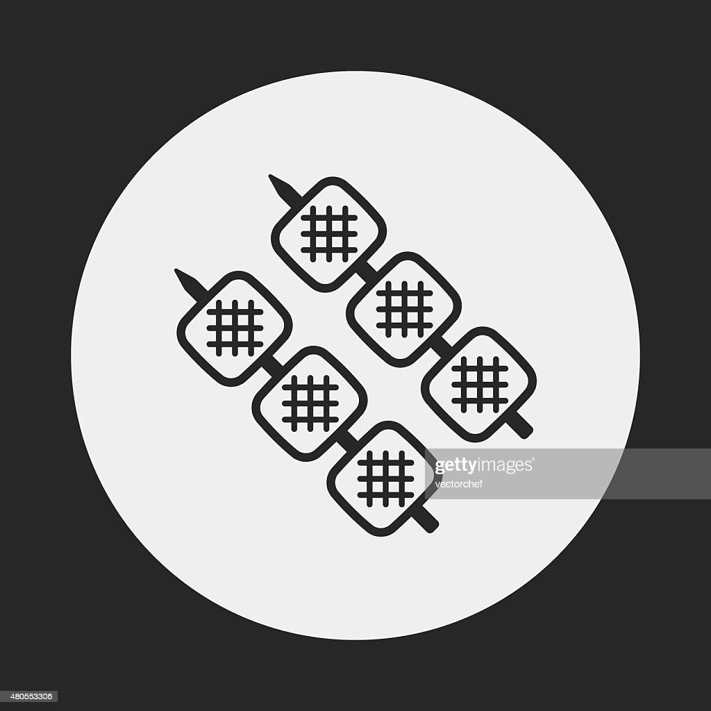Alimentos iconos de barbacoa : Arte vectorial