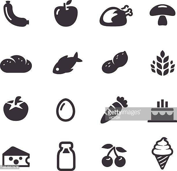 food icons - acme series - nut food stock illustrations
