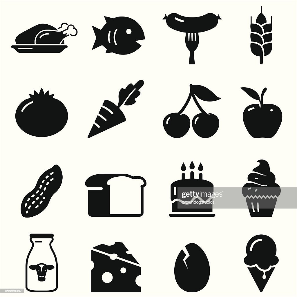Food Icons - Black Series