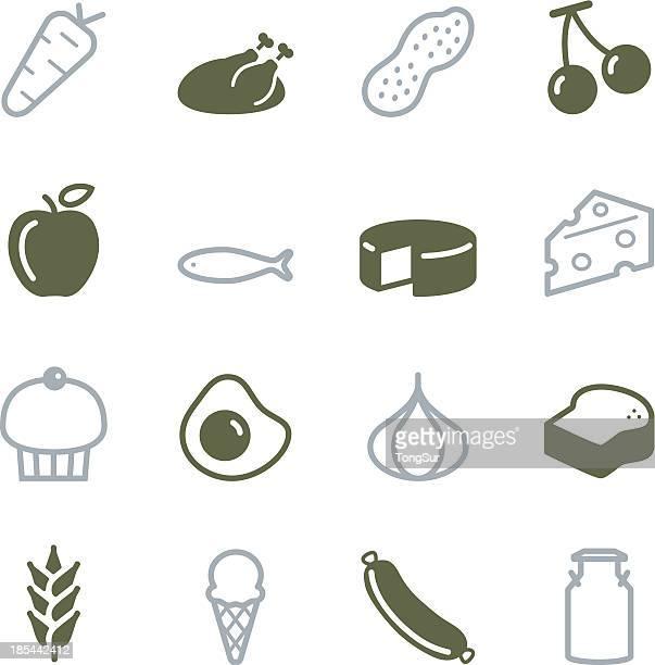 Lebensmittel Icons-Color-Serie