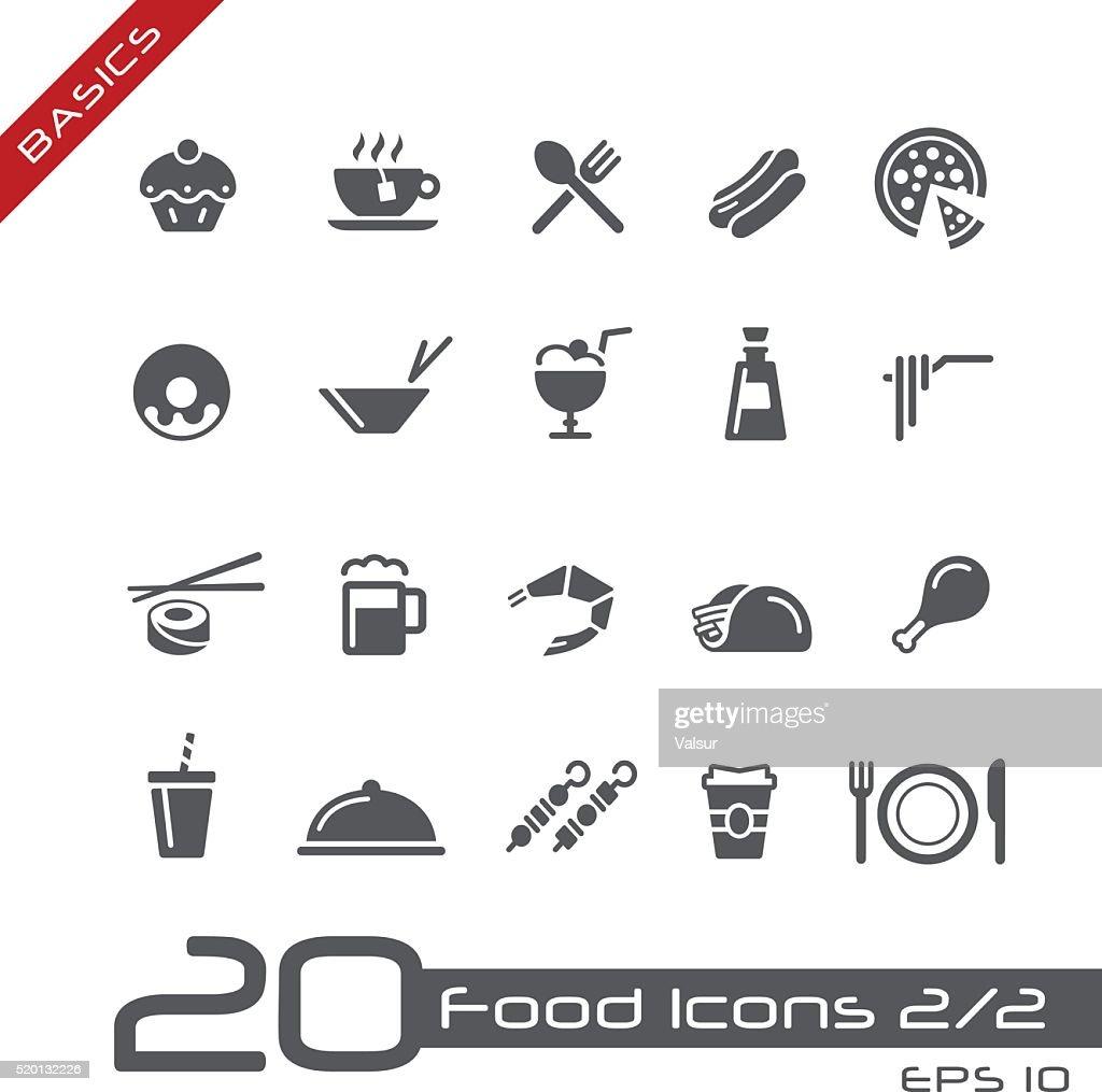 Food Icons Set 2 of 2 - Basics
