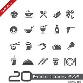 Food Icons Set 2 of 2 - Basics