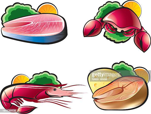 food icons - fillet stock illustrations, clip art, cartoons, & icons
