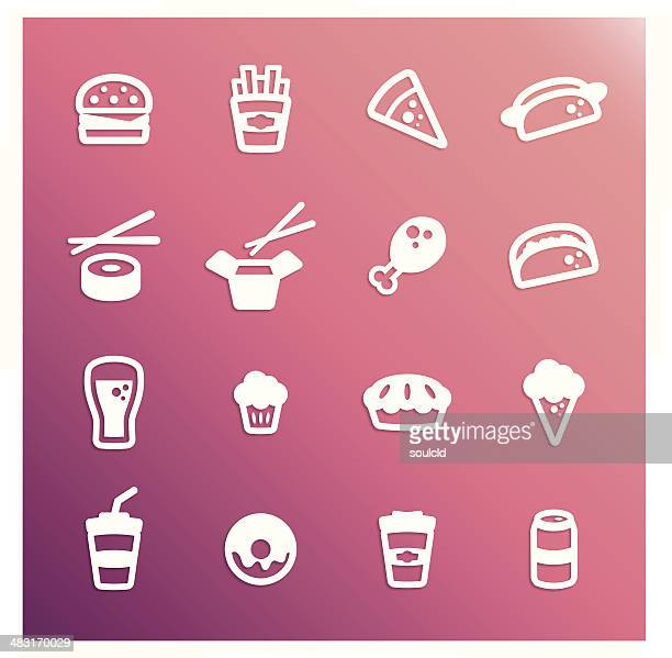food icons - chicken pie stock illustrations, clip art, cartoons, & icons