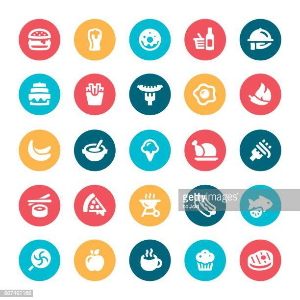 food icons - steak plate stock illustrations, clip art, cartoons, & icons
