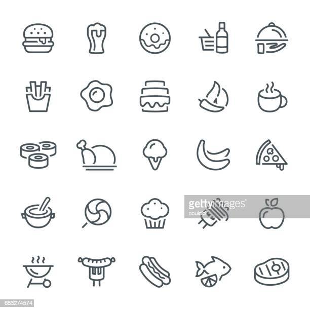 food icons - donut stock illustrations, clip art, cartoons, & icons