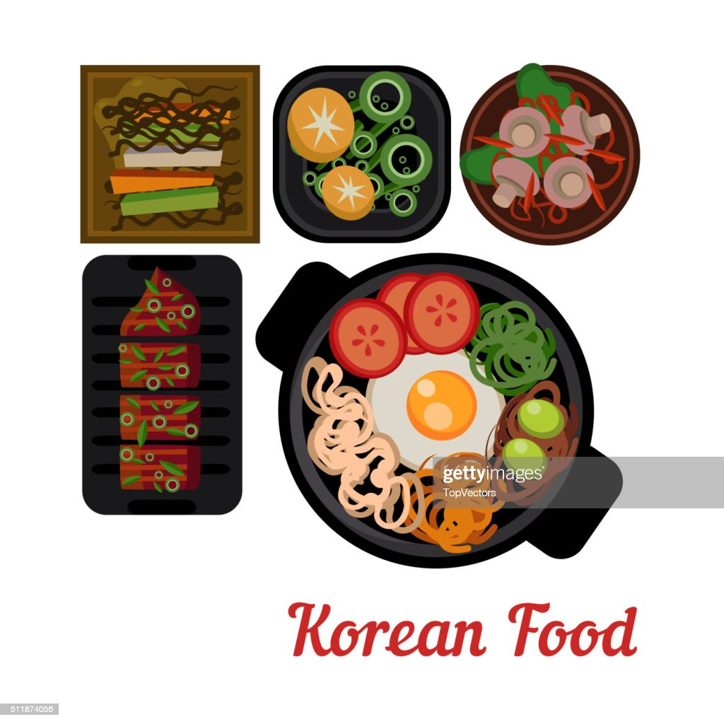 Food Illustration Korean food Vector