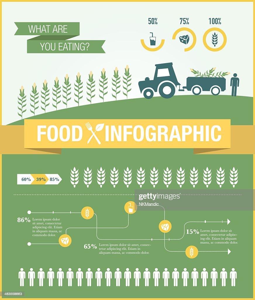 Food Infographic elements design vector