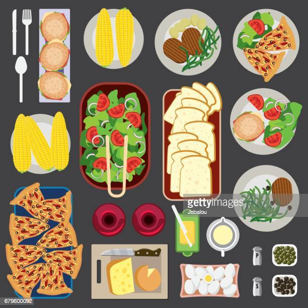 Food Knolling Top View