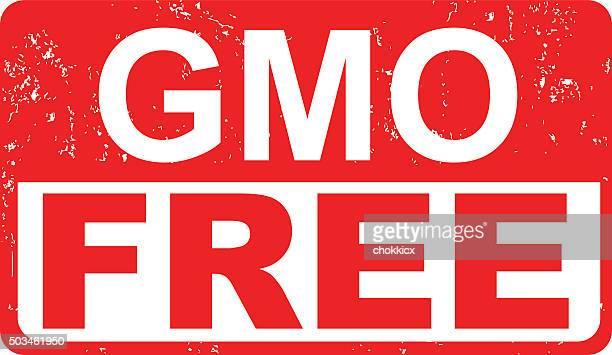 gmo free food label - genetic modification stock illustrations, clip art, cartoons, & icons