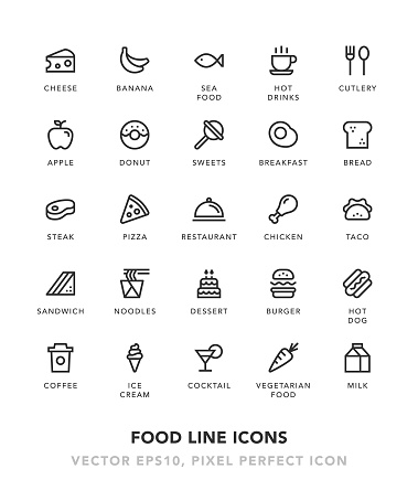 Food Line Icons - gettyimageskorea
