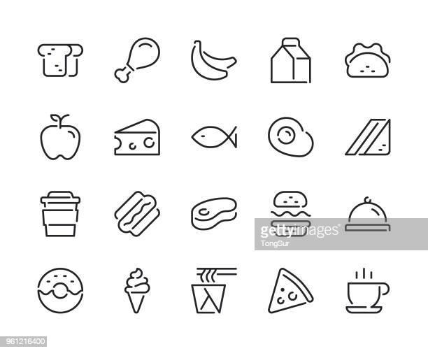 food line icons - calcium stock illustrations, clip art, cartoons, & icons