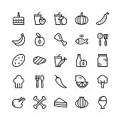Food Line Vector Icons 9