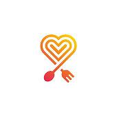 food love. Vector template