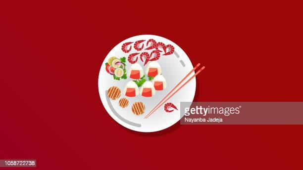 food plate, cooking, dishes, delicious, vector design - arugula stock illustrations, clip art, cartoons, & icons