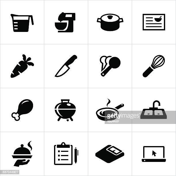 お食事の準備のアイコン - レシピ点のイラスト素材/クリップアート素材/マンガ素材/アイコン素材