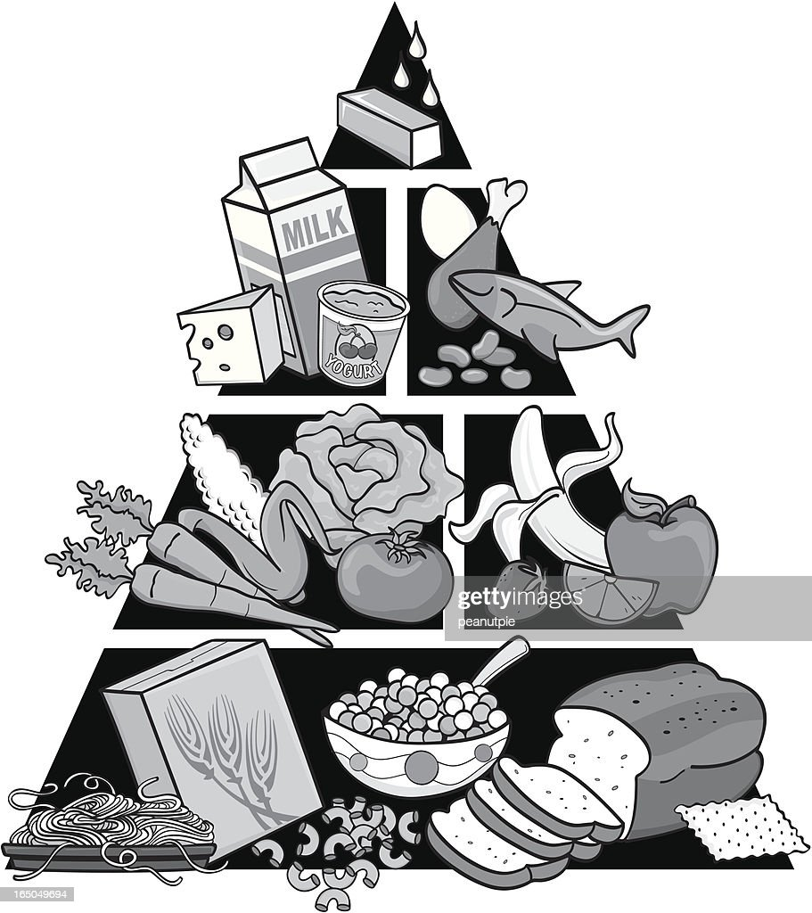 Food Pyramid In Greyscale High Res Vector Graphic Getty Images